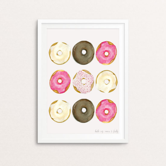 Watercolor Donut painting